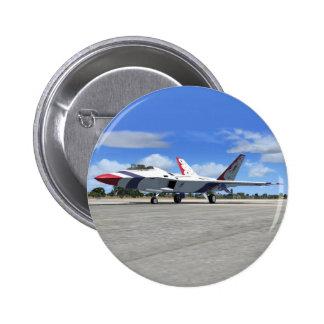 Avión de caza a reacción de los ángeles azules del pin redondo 5 cm