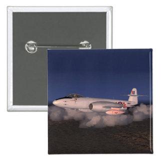 Avión de caza a reacción del meteorito de Gloster Pins