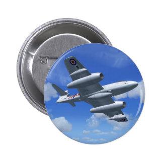 Avión de caza a reacción del meteorito de Gloster Pin
