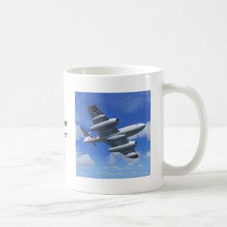 Avión de caza a reacción del meteorito de Gloster Tazas De Café