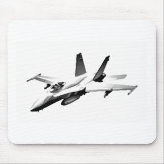 Avión de combate blanco del avispón F/A-18 Tapete De Raton