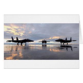 Avión de combate de F-15 Eagle Tarjeta De Felicitación