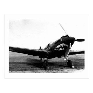 Avión de combate de WWII Flying Tigers Curtiss P-4 Tarjetas Postales