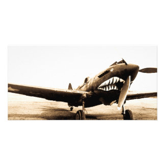 Avión de combate de WWII Flying Tigers Curtiss Tarjetas Fotográficas Personalizadas