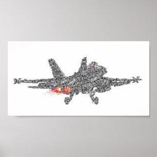 Avión de combate del avispón F18 - parásitos atmos Póster