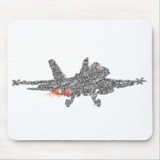 Avión de combate del avispón F18 - parásitos atmos Tapetes De Raton