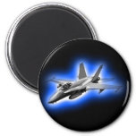 Avión de combate del avispón F/A-18 azul claro Iman Para Frigorífico