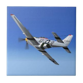 Avión de combate del mustango de WWII P51 Azulejo Cuadrado Pequeño