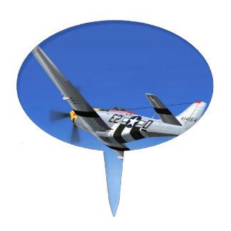 Avión de combate del mustango de WWII P51 Figura Para Tarta