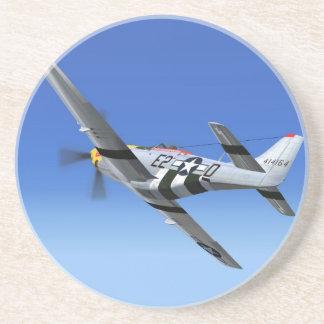 Avión de combate del mustango de WWII P51 Posavasos Para Bebidas