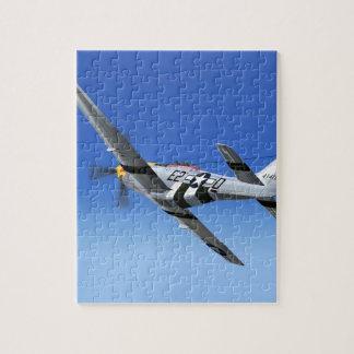 Avión de combate del mustango de WWII P51 Puzzles Con Fotos