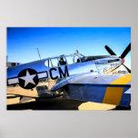 Avión de combate del mustango WWII de P51C Posters