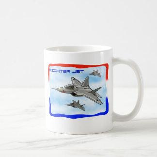 Avión de combate del rapaz F22 Taza Clásica