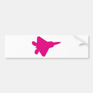 Avión de combate del rapaz F-22 Etiqueta De Parachoque