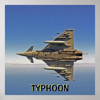 Avión de combate del TIFÓN Posters