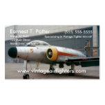 Avión de combate del vintage tarjeta de visita