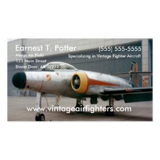 Avión de combate del vintage tarjetas de visita