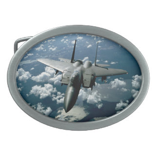 Avión de combate hebillas cinturón ovales