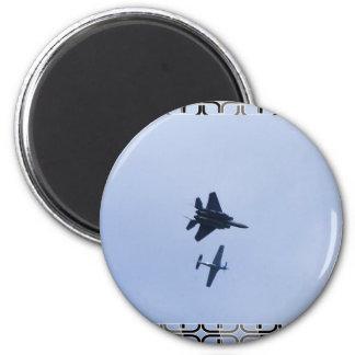 avión de combate imán redondo 5 cm