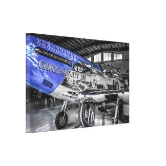 Avión de combate norteamericano del mustango P51 d Lienzo Envuelto Para Galerias