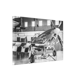 Avión de combate norteamericano del mustango P51 d Impresión De Lienzo