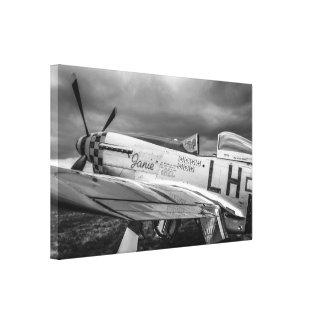 Avión de combate norteamericano del mustango P51 d Impresion En Lona