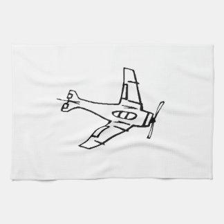 Avión de combate toallas