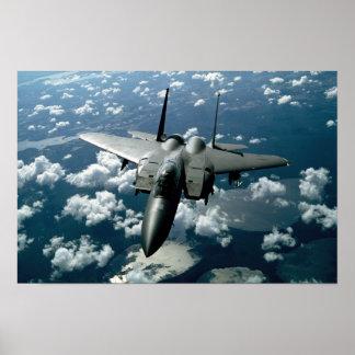 Avión de combate póster