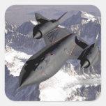 Avión de combate supersónico pegatina cuadradas