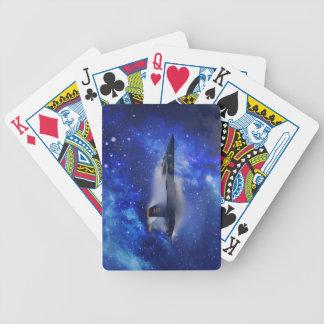 Avión de la barrera de sonidos baraja cartas de poker