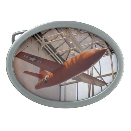Avión de la fuerza aérea de Red Rocket en la demos Hebilla De Cinturon Oval