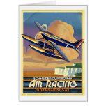 Avión de la raza del aire felicitacion