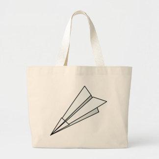 Avión de papel bolsas de mano