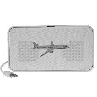 Avión de pasajeros iPod altavoces