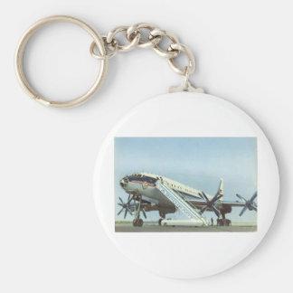 AVIÓN DE PASAJEROS de Aeroflot Tu 114 Llavero Redondo Tipo Pin