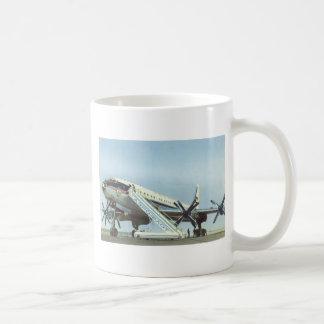 AVIÓN DE PASAJEROS de Aeroflot Tu 114 Taza De Café