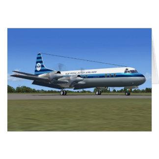 Avión de pasajeros de Lockheed Electra Tarjeta De Felicitación