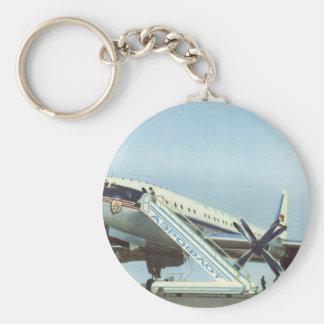 AVIÓN DE PASAJEROS de RUSIA Aeroflot Tu 114 Llavero Redondo Tipo Pin
