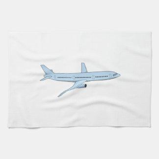 Avión de pasajeros toallas