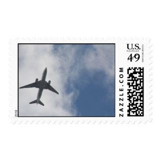 Avión de pasajeros sellos
