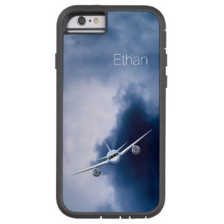 Avión de reacción azul en el iPhone 6 o 6S de Funda Tough Xtreme iPhone 6