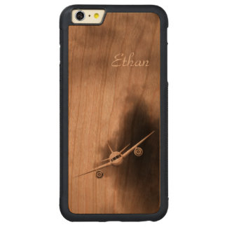 Avión de reacción en el iPhone de madera del Funda Para iPhone 6 Plus De Carved® De Cerezo