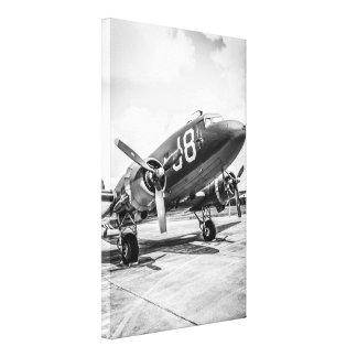 Avión de transporte del C-47 de WWII Douglas Impresiones De Lienzo