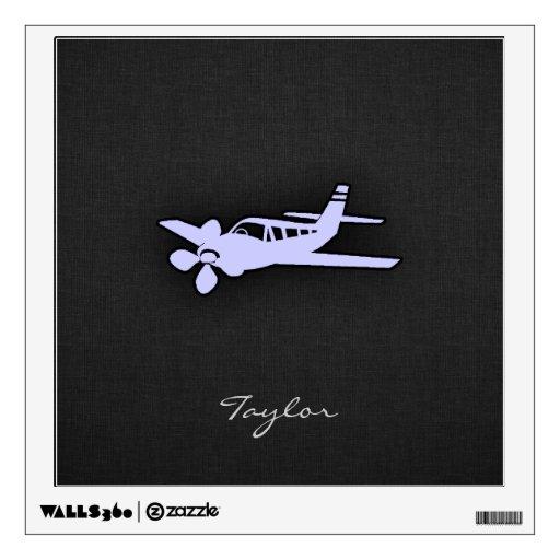 Avión del azul de la lavanda