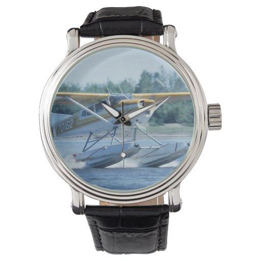 Avión del barco relojes de pulsera