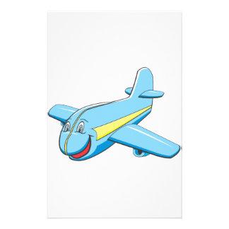Avión del dibujo animado papeleria de diseño
