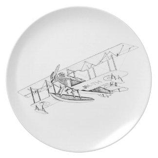 Avión del flotador de Curtiss JN-4 Jenny