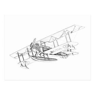 Avión del flotador de Curtiss JN-4 Jenny Postal