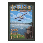 Avión del flotador de la unión del lago - Seattle, Poster