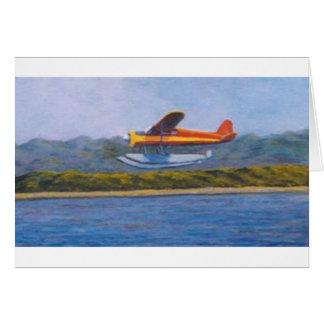 avión del flotador felicitación